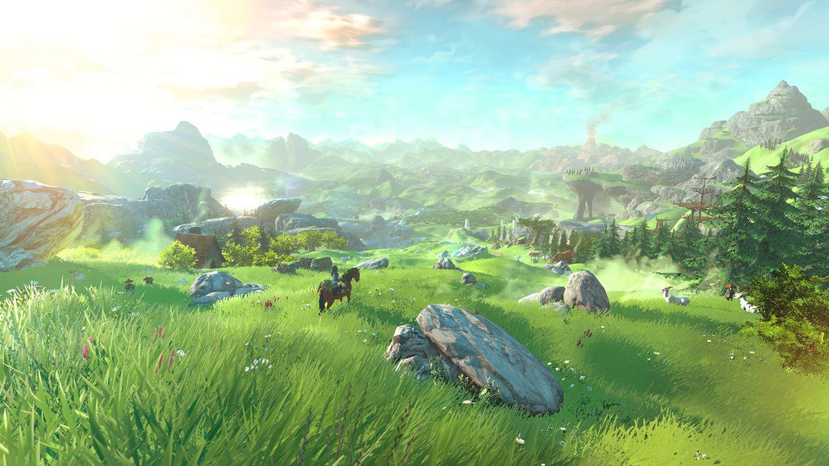 La plaine d'Hyrule dans Zelda Breath of the Wild - Nintendo