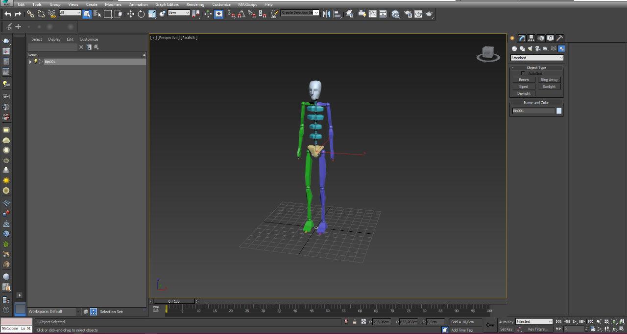 Un squelette de Motion - Remy le Scornet